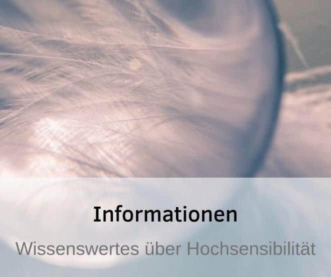Informationen Hochsensibilität