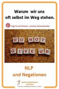 NLP Negationen Ausbildung Weiterbildung